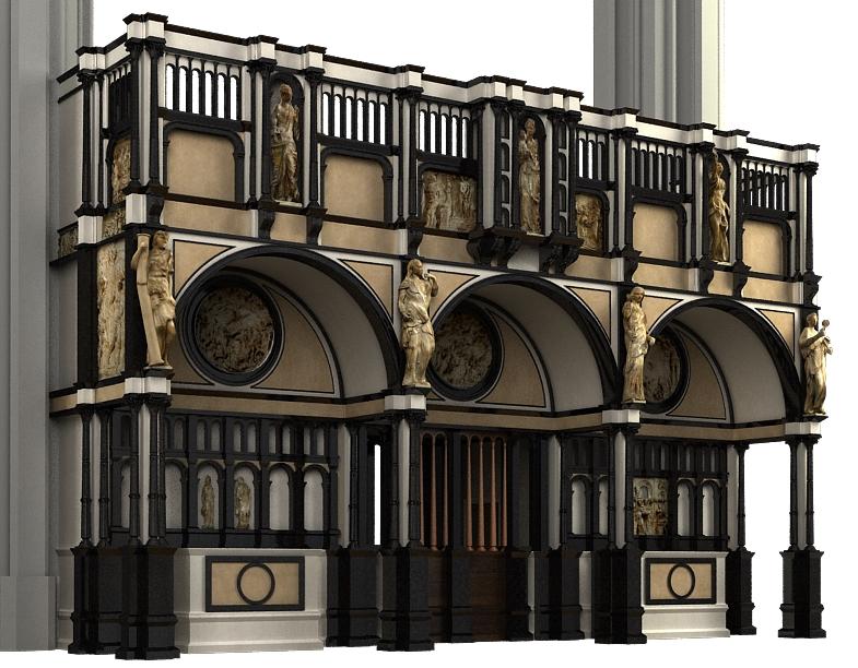 Essai de reconstitution du Jubé en 3D (C) Crossroad
